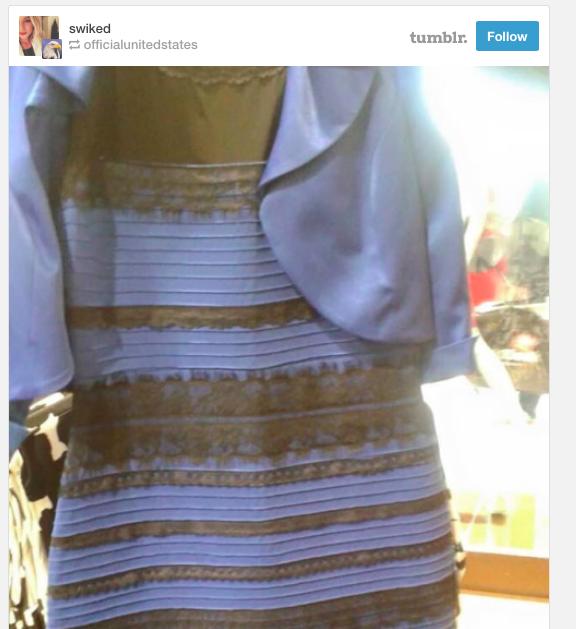 Оригинал платья меняющего цвет
