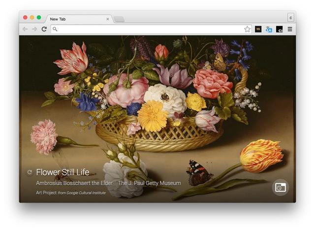 Google предложил смотреть на произведения искусства в пустых вкладках Chrome