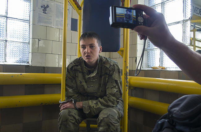 Nadiya Savchenko after being detained in Luhansk. June 19, 2014.