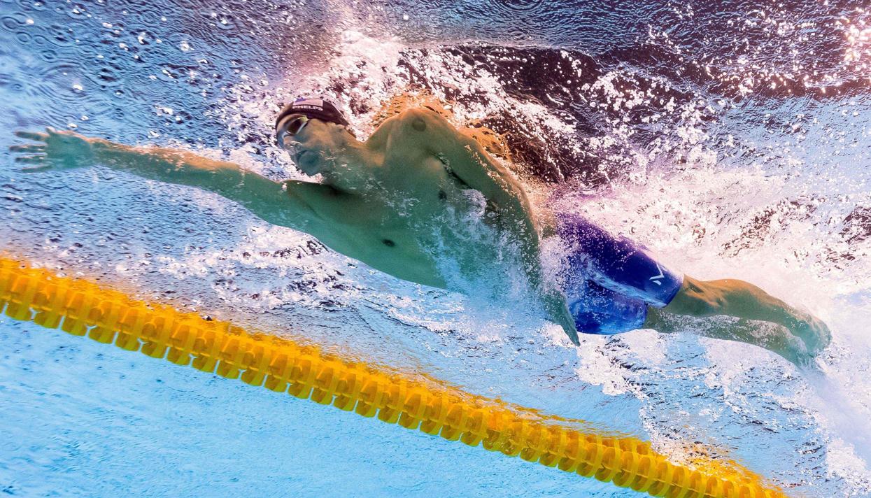Американский пловец Майкл Фелпс завоевал 22-ю золотую олимпийскую медаль