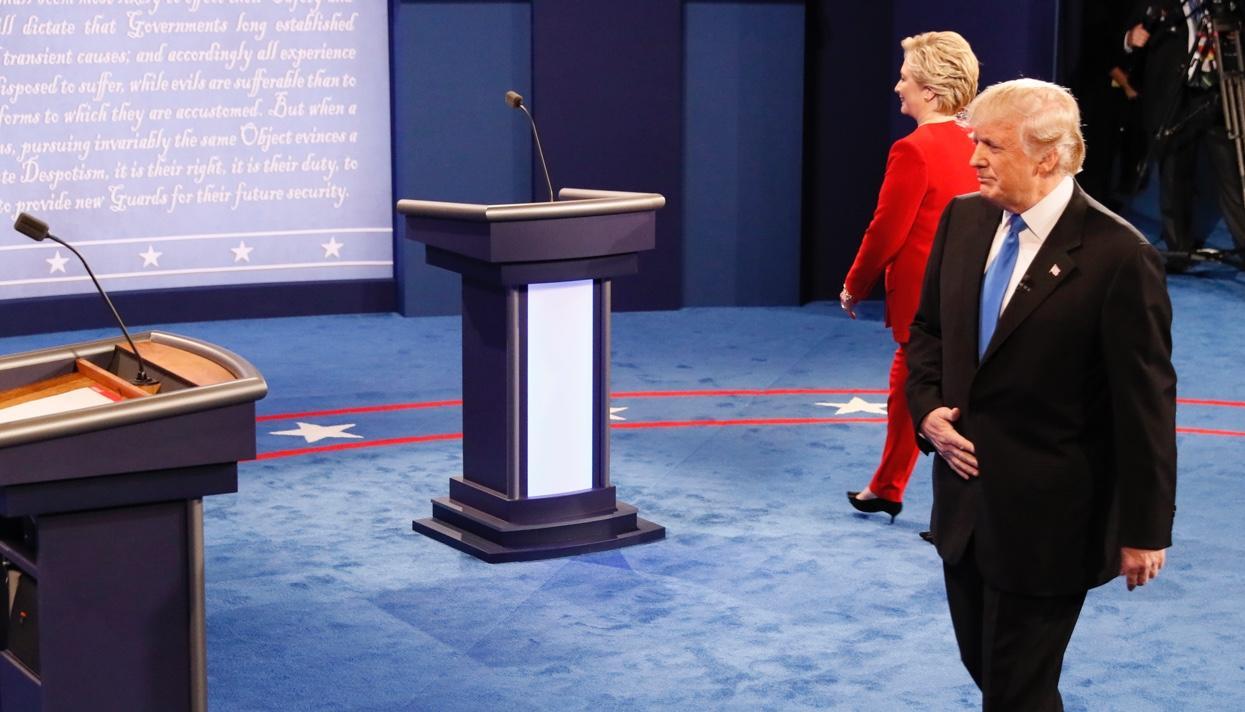 Задебатами Клинтон иТрампа вНью-Йорке наблюдали 84 млн. человек