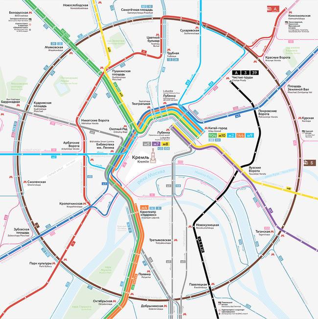 Схема автобусных маршрутов москва