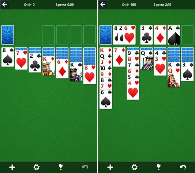 Microsoft выпустила бесплатный пасьянс «Косынка» для iOS и андроид