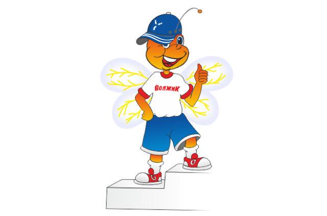 Спортивным символом Саратова стала антропоморфная пчела Волжик