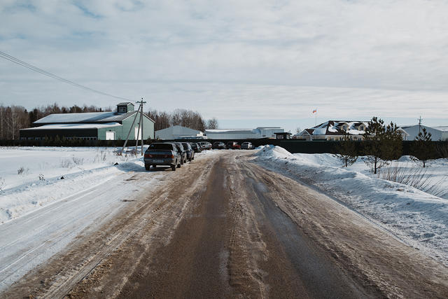 Дорога, ведущая ктерритории агрохолдинга «Боброво»