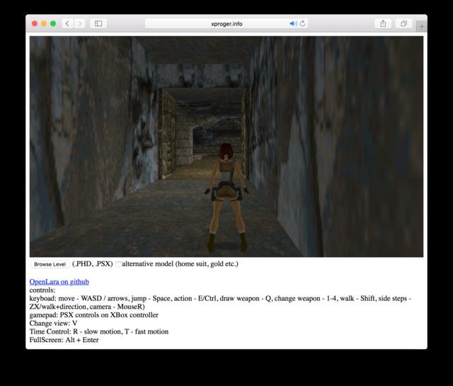 Первую часть Tomb Raider запустили вбраузере