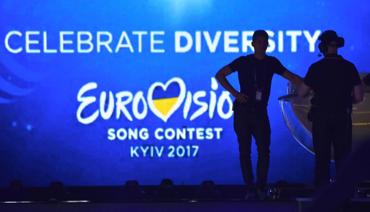 Фан-зону Евровидения вКиеве засняли своздуха