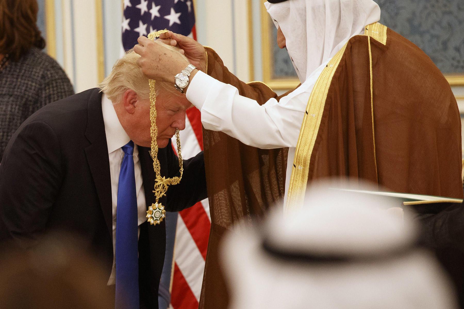Image result for трамп саудовский орден