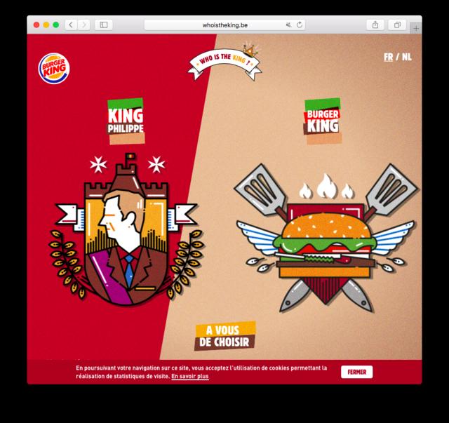 Монарх Бельгии возмущен рекламой Burger King с«выборами» короля