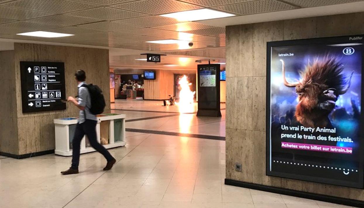 Шизанутые аллахом продолжают взрывать:  В Бельгии застрелили мужчину, бегавшего по вокзалу и кричавшего «Аллах велик»