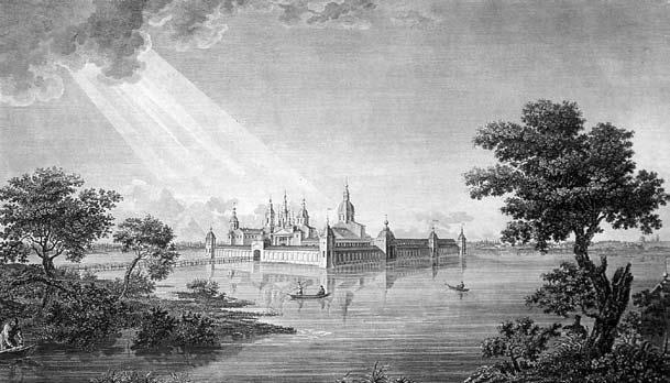 Вид наКирилло-Новоезерский монастырь, 1823 год