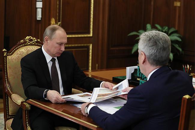 Встреча Сергея Собянина сВладимиром Путиным, накоторой мэр рассказал президенту ореновации, 21февраля 2017 года