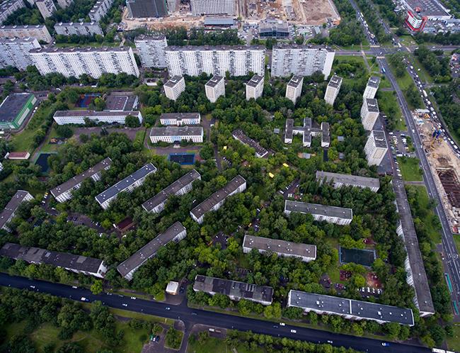 Пятиэтажки вБескудниковском районе, 27июня 2017 года