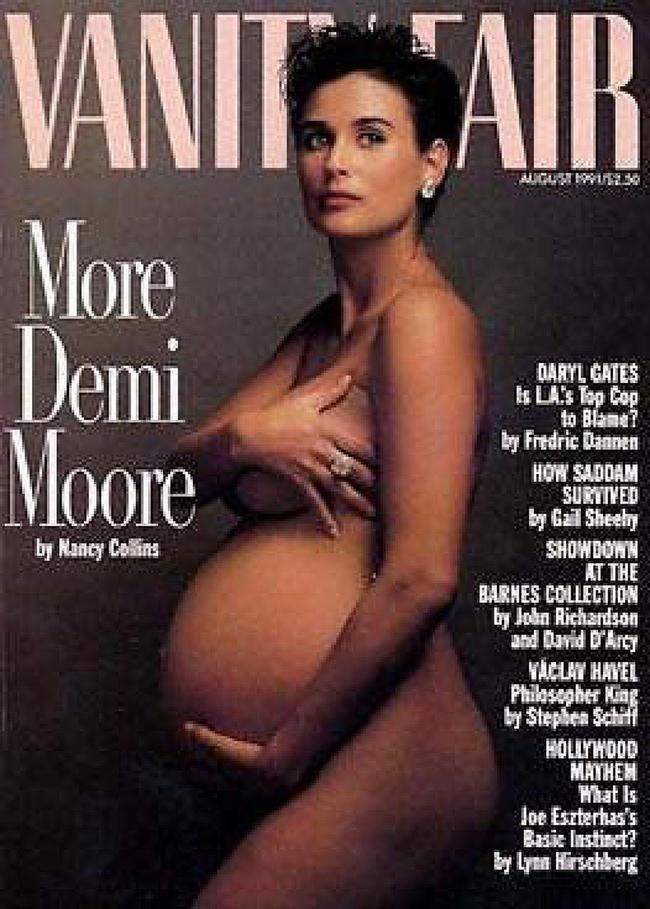 Деми Мур наобложке Vanity Fair, август 1991 года<br>
