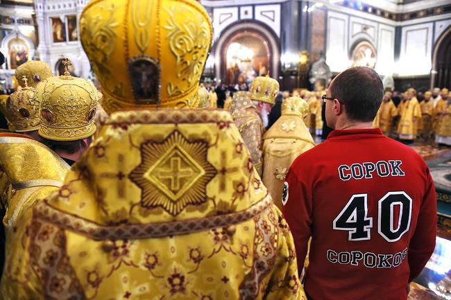 Литургия по случаю шестой годовщины вступления патриарха Кирилла в должность в храме Христа Спасителя, 1 февраля 2015 года