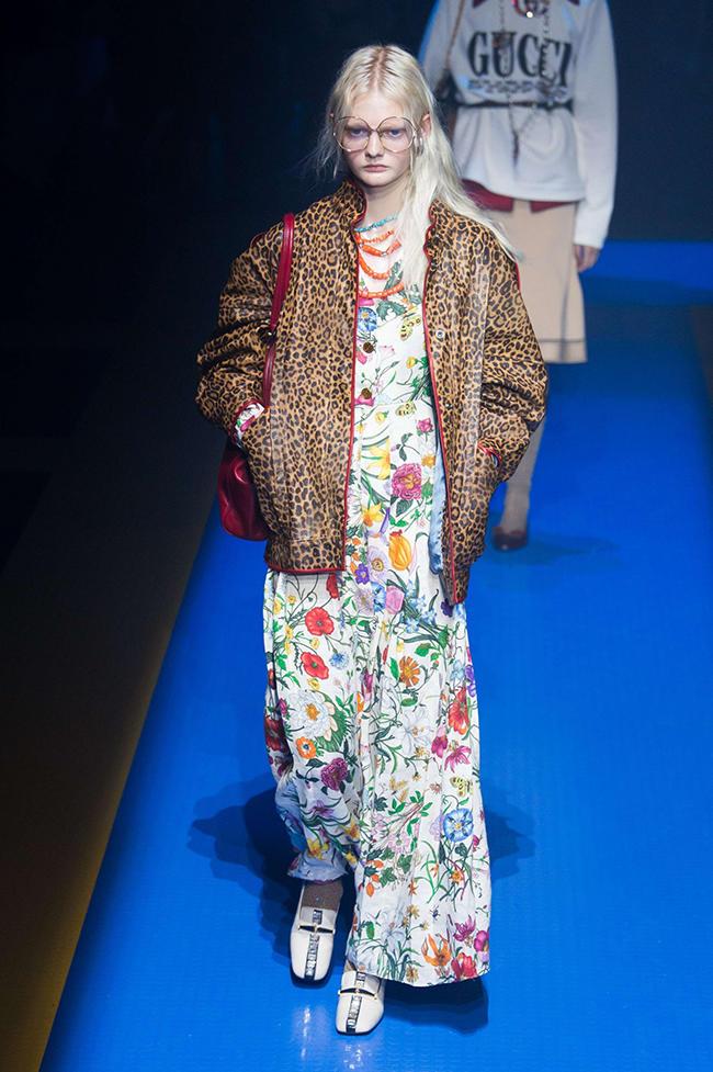 Показ коллекции Gucci весна-лето 2018 на Миланской неделе моды, 20 сентября  2017 года 8af242aa587