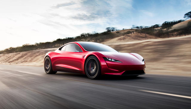 Новая, очень быстрая Tesla. Фотографии