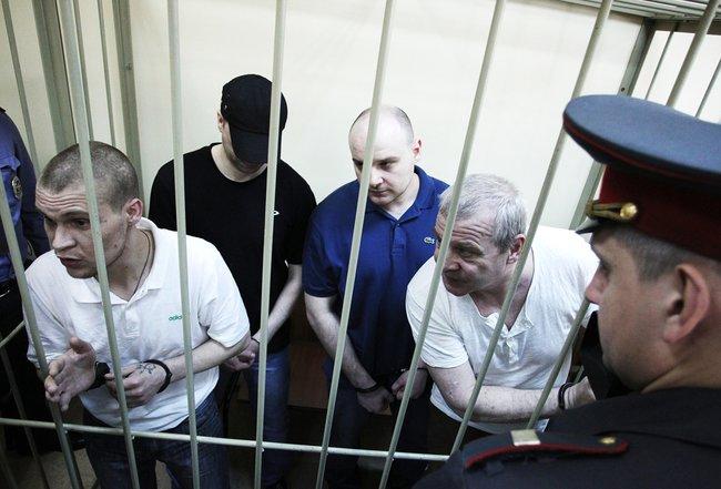 Обвиняемые впохищении Ивана Касперского слушают вердикт суда, 6марта 2013 года