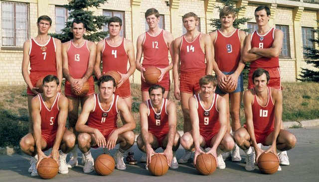 The USSR's Olympic basketball team in 1972