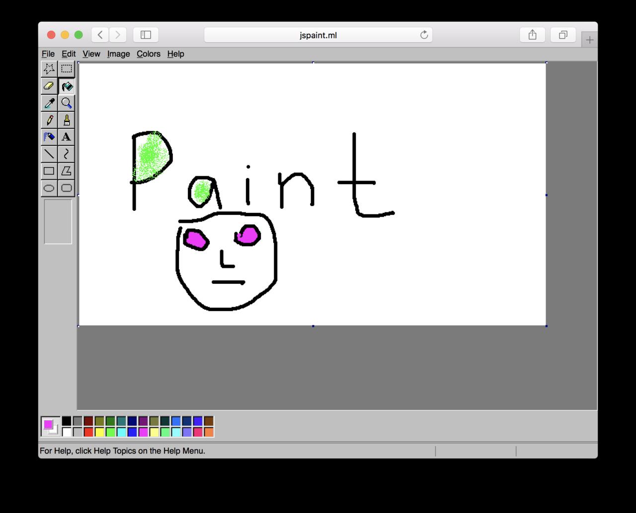 Веб-разработчик создал браузерную версию традиционного MSPaint