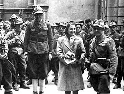 Ада Гобетти сучастниками Сопротивления, 1945 год