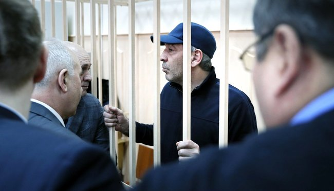 Dagestan's former acting prime minister, Abdusamad Gamidov, in court in Moscow, February 6, 2018
