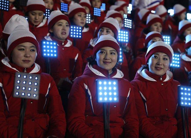 Группа поддержки сборной КНДР
