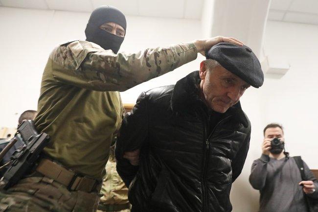 Бывший министр образования Дагестана Шахабас Шахов вБасманном суде, 6февраля 2018 года