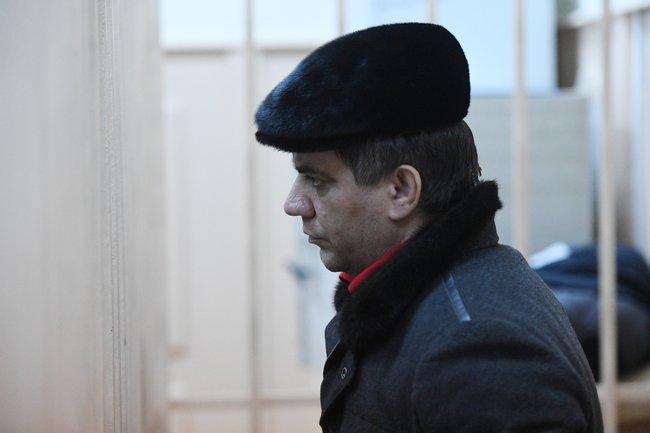 Бывший заместитель председателя правительства Дагестана Раюдин Юсуфов вБасманном суде Москвы, 6февраля 2018 года<br>