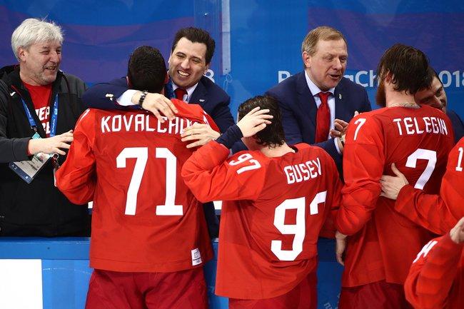 Сборная «олимпийских атлетов изРоссии» выиграла Олимпиаду вПхенчхане, февраль 2018 года