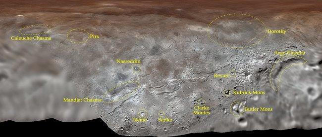 Наспутнике Плутона назвали гору вчесть Стэнли Кубрика, акратер— вчесть Садко