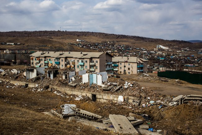 Один израйонов поселка— «Квартал»