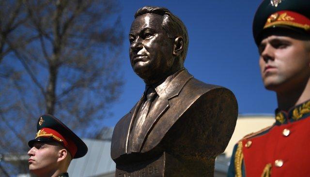 На«Аллее правителей» вМоскве открыли памятник Борису Ельцину. Фотография