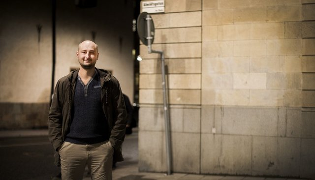 Arkady Babchenko in Stockholm, where he was awarded the Swedish PEN-Club Award, November 12, 2015<br>
