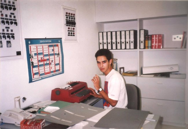 Антон Носик вТель-Авивском университете, начало 1990-х