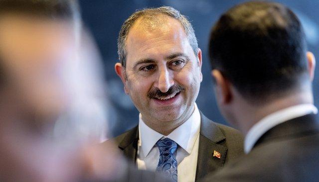 Министр юстиции Турции Абдулхамит Гюль, против которого США ввели санкции. Копенгаген, 12апреля 2018 года