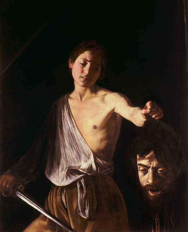 Микеланджело Меризи даКараваджо. «Давид сголовой Голиафа». Около 1610