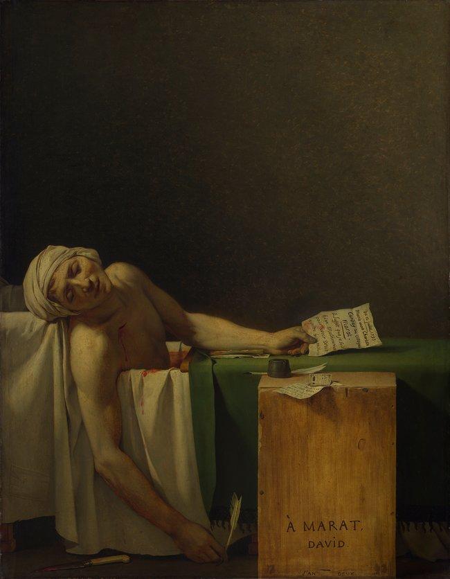 Жак-Луи Давид. «Смерть Марата». 1793