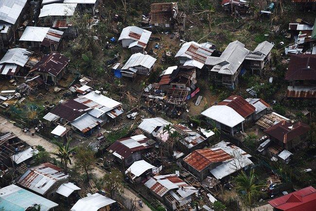 Дома, разрушенные «Мангхутом», вфилиппинской провинции Кагаян