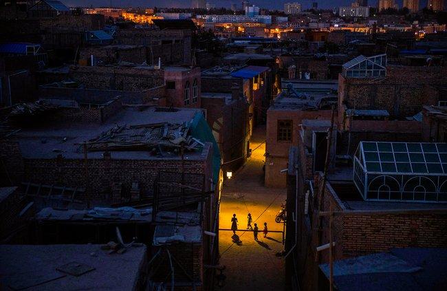 Старый город вКашгаре, 31июля 2014 года