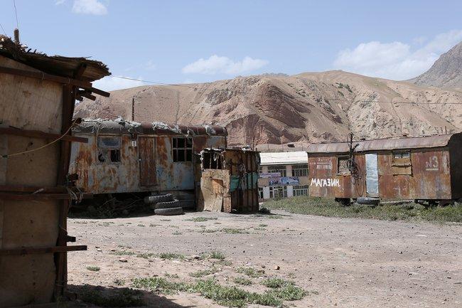 Киргизский поселок уграницы сСиньцзяном, лето 2018 года