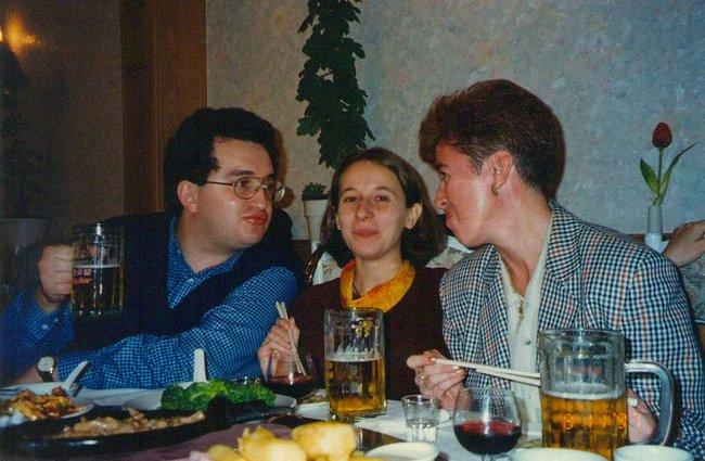 Кремлевскийпул. Журналисты Александр Будберг, Наталья Тимакова, Елена Дикун