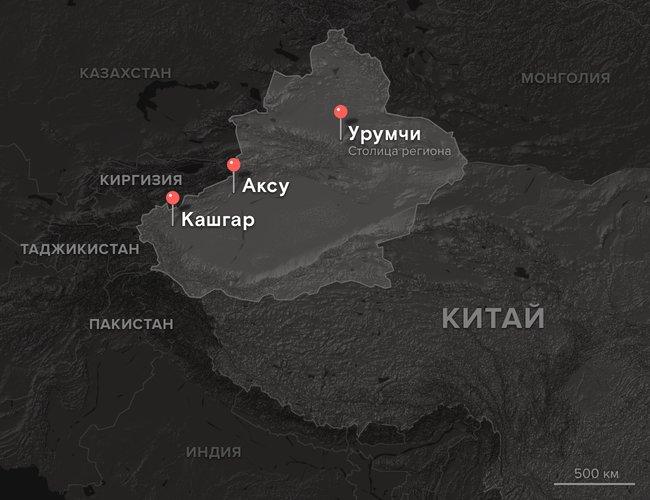 Карта Синьцзяна иприграничных территорий