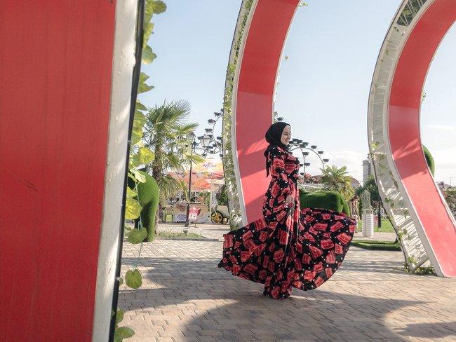 Цветочный парк вцентре Грозного