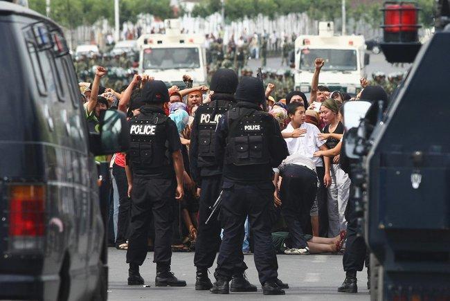 An Uyghur protest in Ürümqi, July 7, 2009