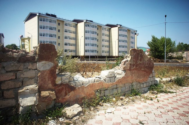 New housing in Tskhinvali for victims of the 2008 war, July 2018