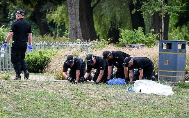 Полиция Солсбери ищет следы «Новичка», июль 2018 года