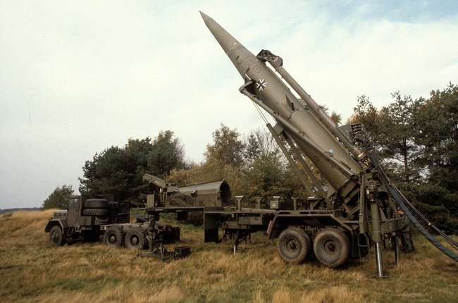 A Pershing 1A missile, dismantled in accordance with the INF Treaty