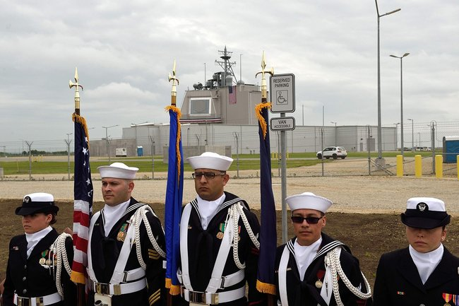 The opening of the U.S. Aegis Ashore missile defense base in Deveselu, Romania, 2016