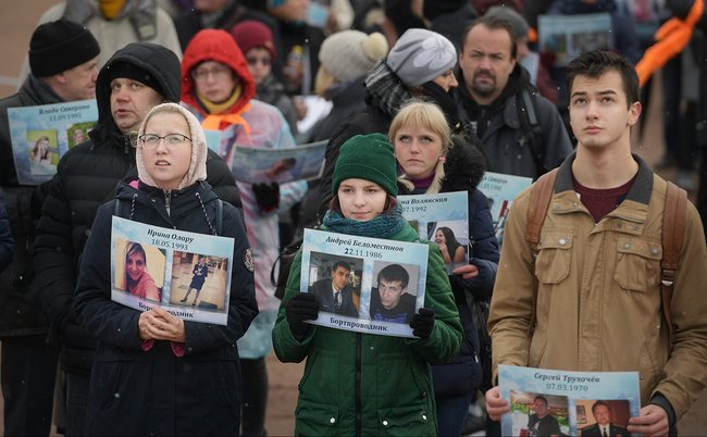Петербуржцы показали «живой самолет», вспоминая жертв авиакатастрофы над Синаем